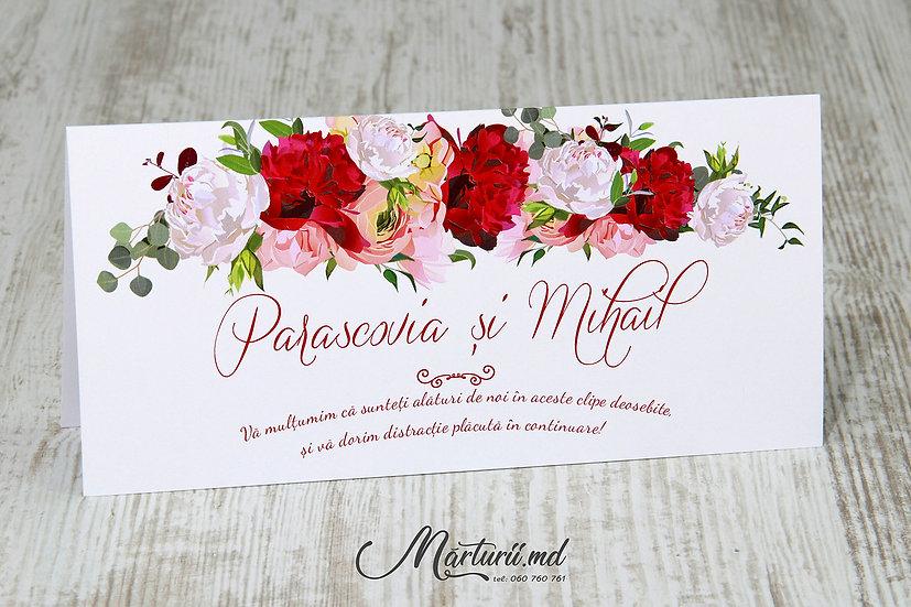 PC-026 Plic pentru bani cu flori roz si rosii