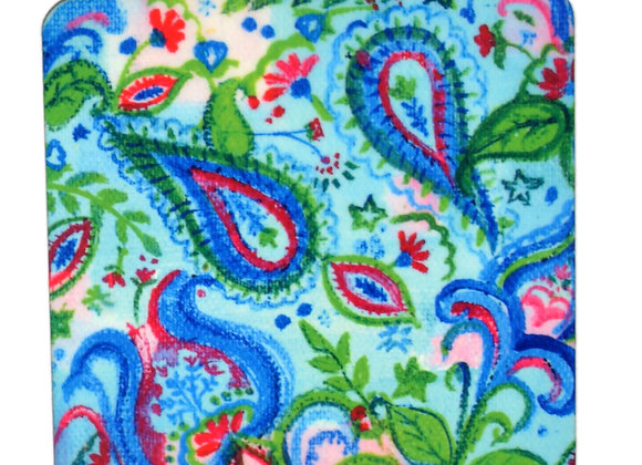 Blue Paisley, Abstract Coasters