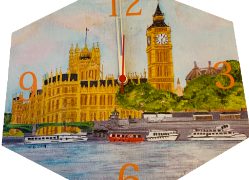 Wall Clock, Westminster Abbey, London