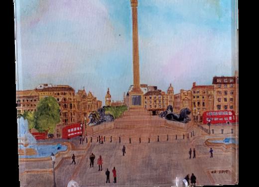 London Acrylic Trivet / Display unit, Trafalgar Square