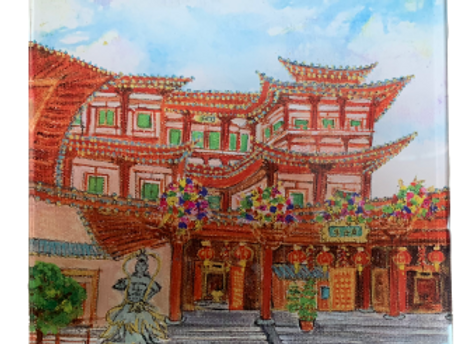 SG Acrylic Trivet / Display unit, Buddha Tooth Relic Temple