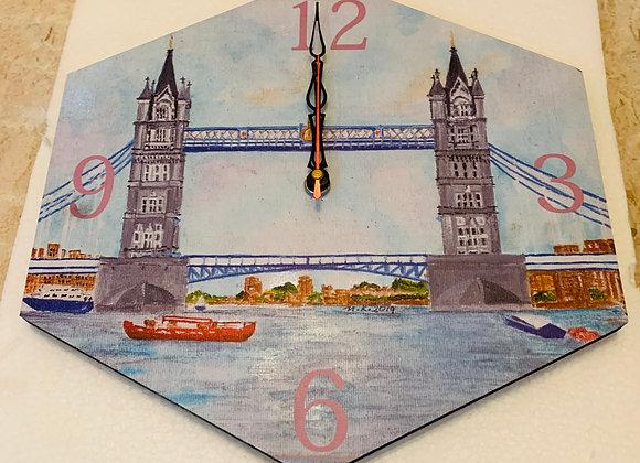 Wall Clock, Tower Bridge, London