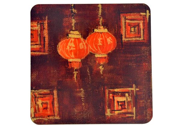Lamp #1, Abstract Coasters