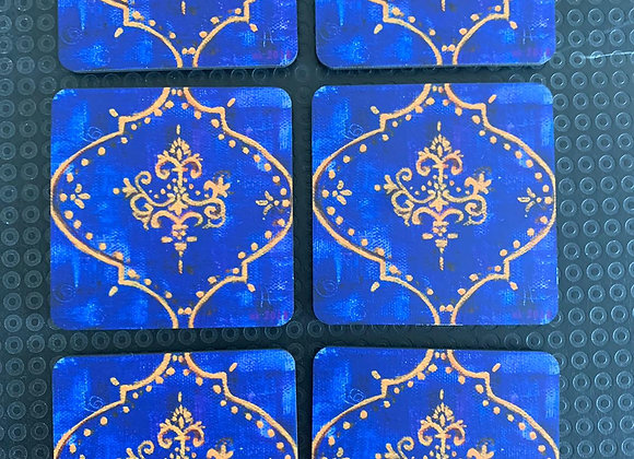 Royal Purple #2, Abstract Coasters, Set of 6