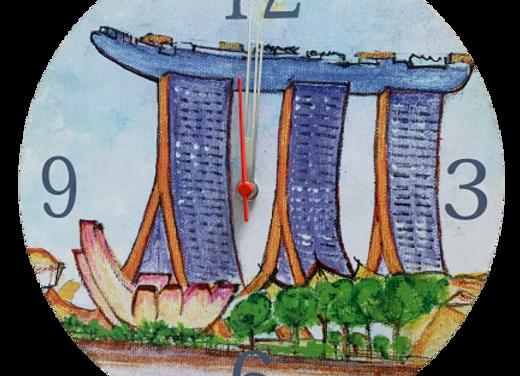 Wall Clock, Marina Bay Sands, Singapore.