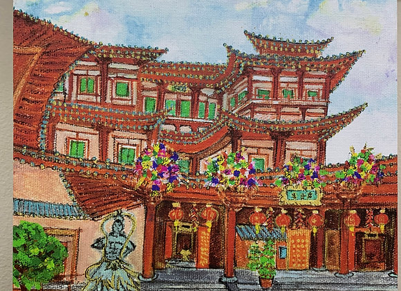 Printed canvas, Buddha Tooth Relic Temple