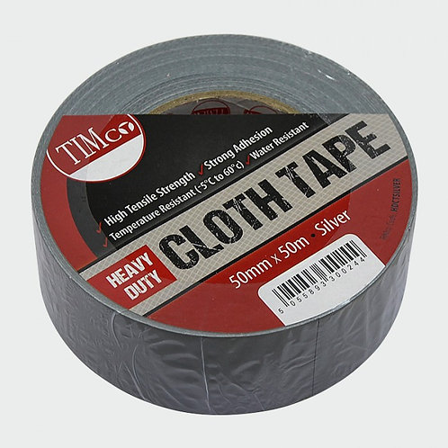 Heavy duty cloth tape-silver