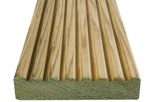 DECKING 32 x 125mm Smooth and Grooved Deck Board 4.8m