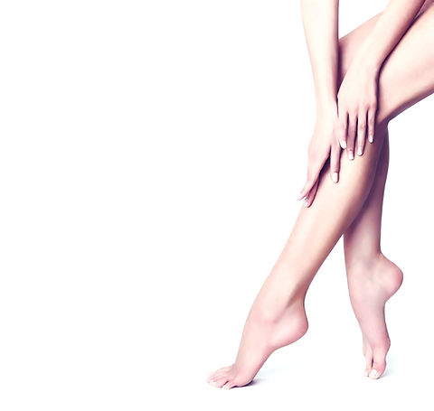 Beautiful well-groomed female legs . Foot care . Depilation of hair on the feet _edited.jpg