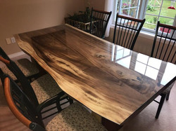 Beautiful live edge table top.