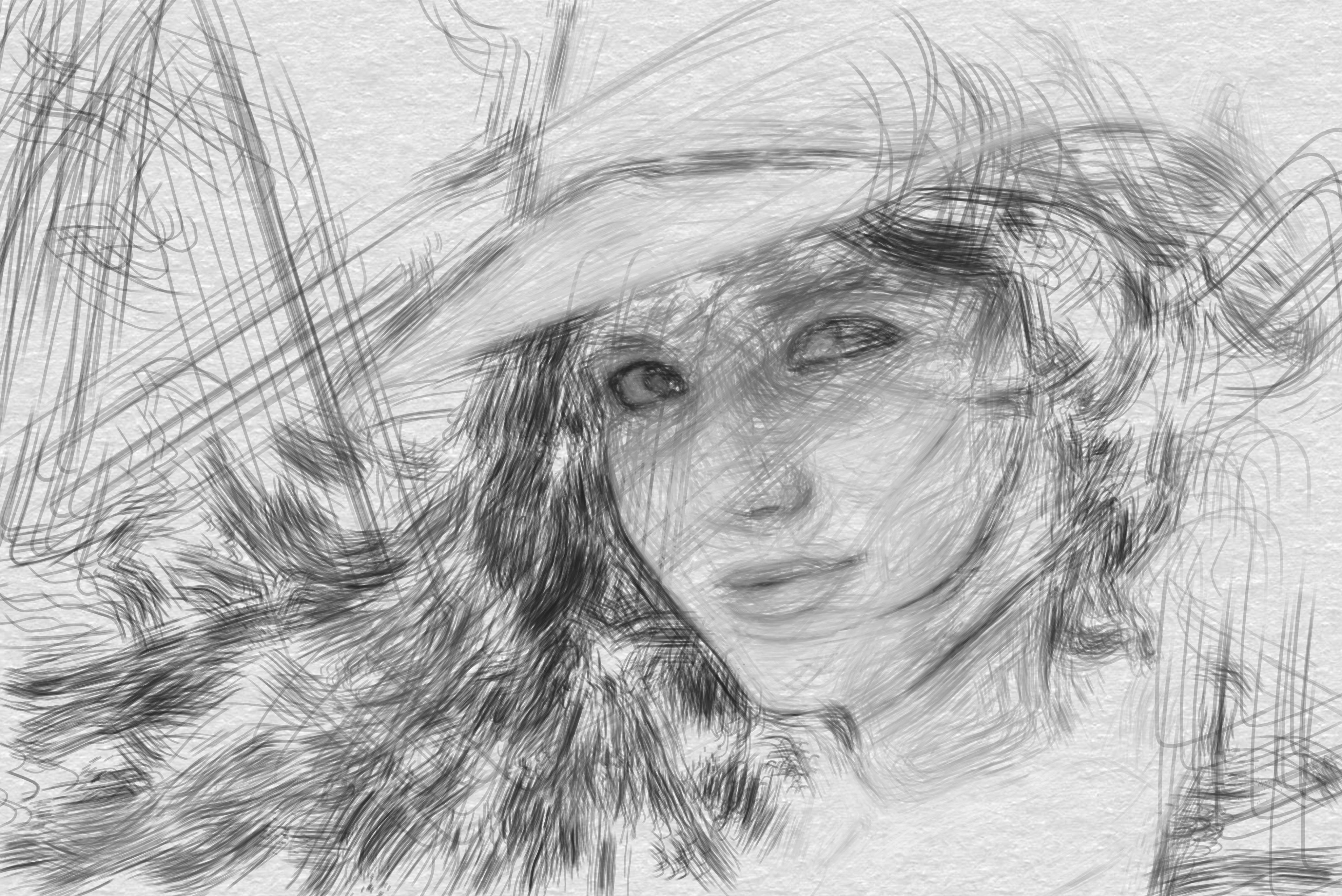 Sparse B&W Sketch