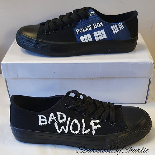 Dr Who Custom designed Canvas shoes