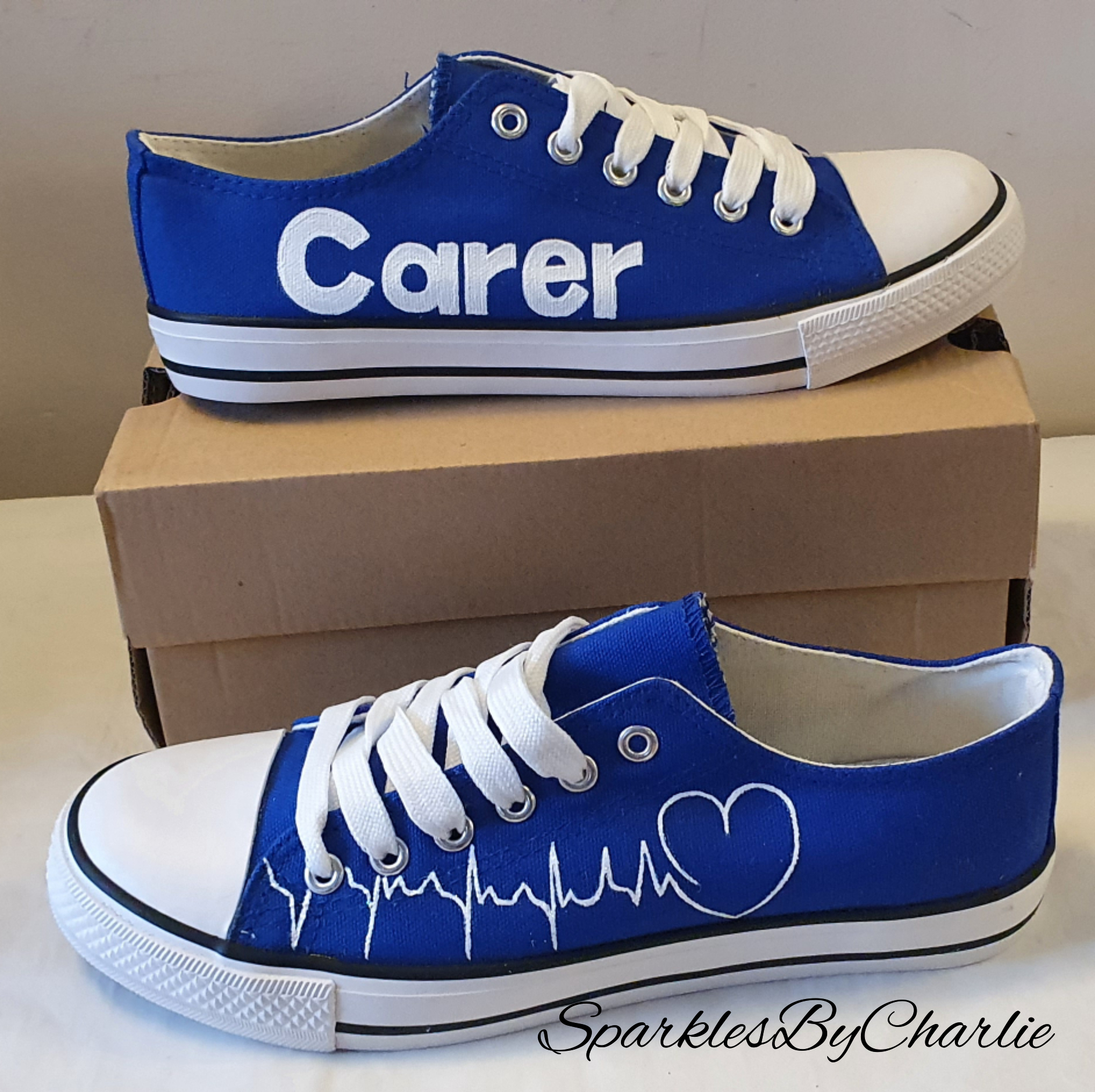 Blue Carer Canvas Shoes