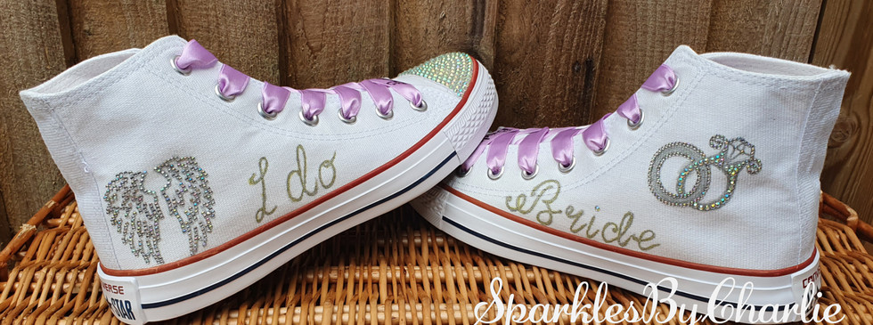Angel Wing Wedding High Tops