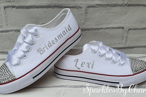 Childrens Canvas Wedding Shoes