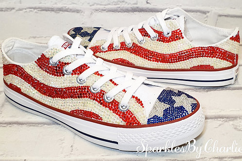 USA Stars & Stripes Converse Low Tops
