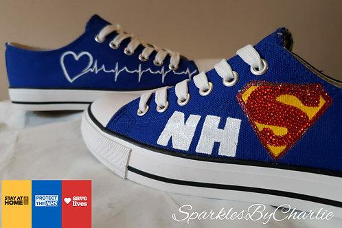 Blue NHS Custom Designed Canvas Shoes