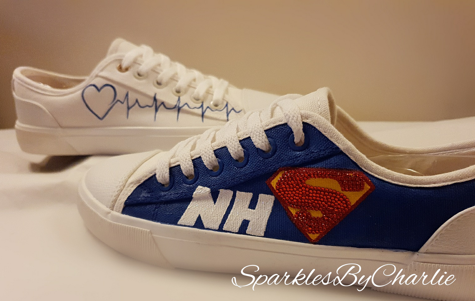 White NHS Superhero Shoes