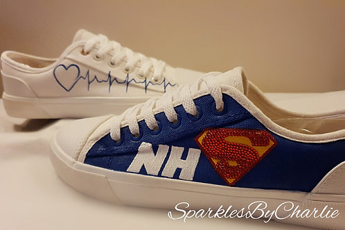 NHS Super Hero Canvas Shoes