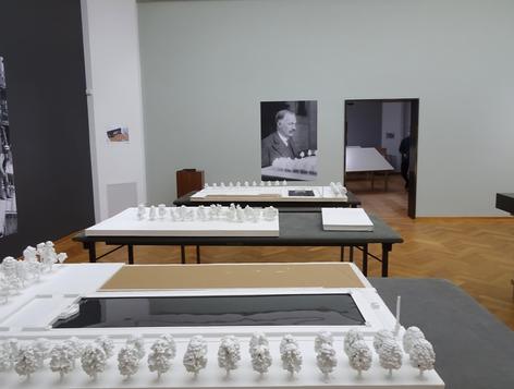 De maquette opgebouwd in het Kunstmuseum