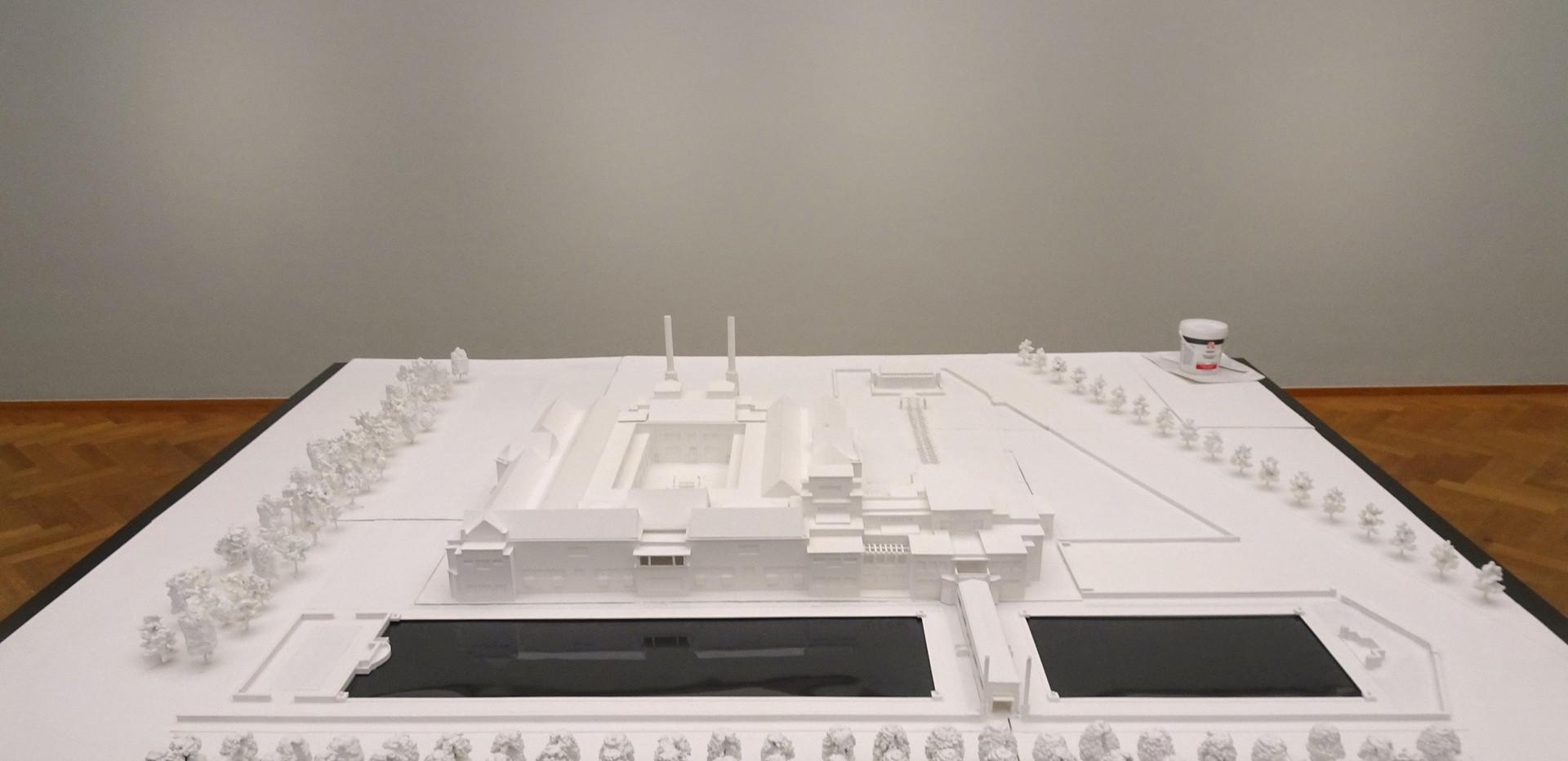 De maquette in het museum