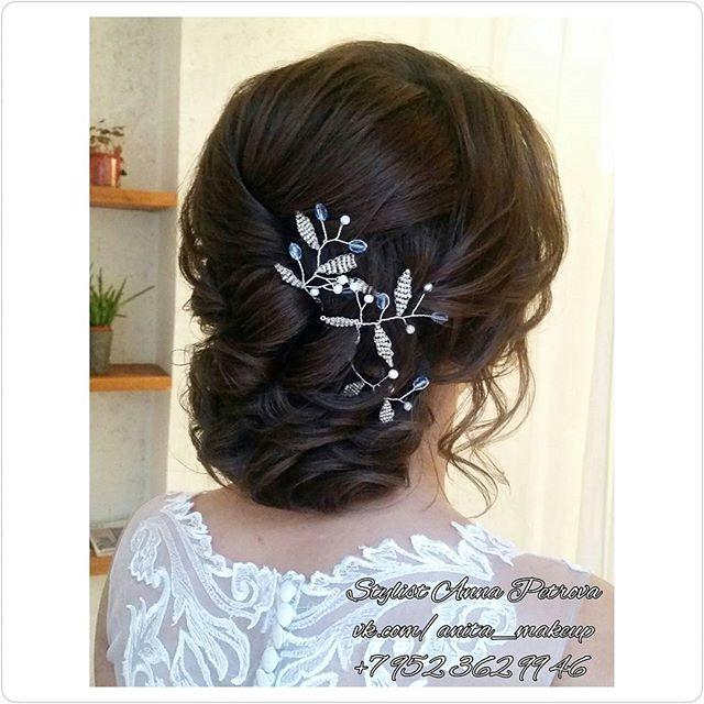 Красавица Анюта!👰Прическа сделана на довольно короткие волосы(каре), Сейчас еще будет фото сзади, м