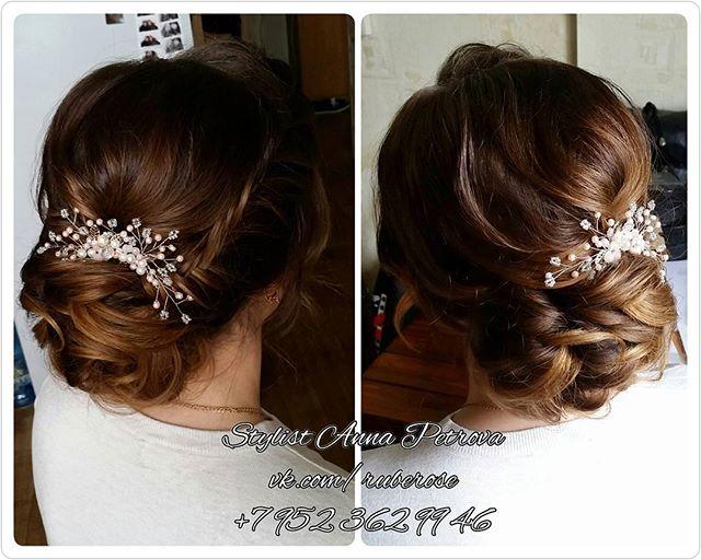 Hair _rube_rose_Украшение в волосы _olga_mariage_#makeup#свадебныймакияжспб#прическа#свадебнаяпричес