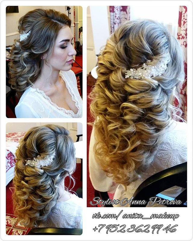 Вашему вниманию свадебная прическа в греческом стиле с добавлением доп. прядей волос