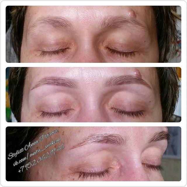 Коррекция и окрашивание бровок визуально даже приподнимает уголки глаз, освежает и молодит🙆☝ Скорее