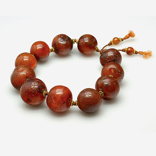 Old Red Agate Bracelet
