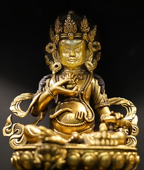 Gold Gilded Yellow Jambhala Statue
