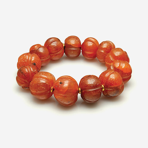 Old Red Agate Carnelian Bracelet