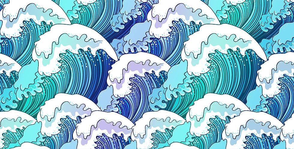 DPI Communications Landing Page Wave Graphic Design