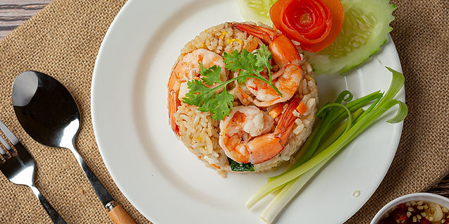 Cook Rice with Shrimps