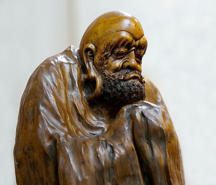 Bodhidharma Root Carving Statue