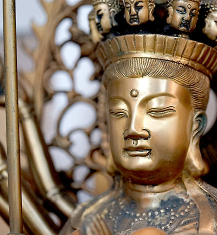 Bodhisattva bronze statue