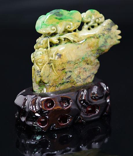 Ruyi & Cicadas Jadeite carving