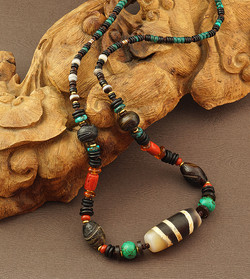 Old Choon See 5 Lines Bead Necklace