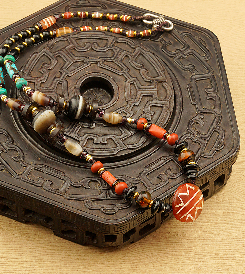 Old Medicine Beads Necklace