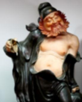 Zhong kui pottery statue