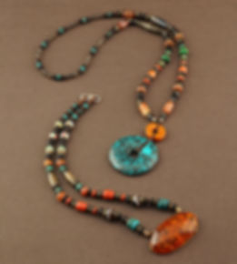 Turquoise Necklace & Amber Necklace