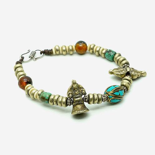 Tibet Bronze Bell & Dorje Bracelet