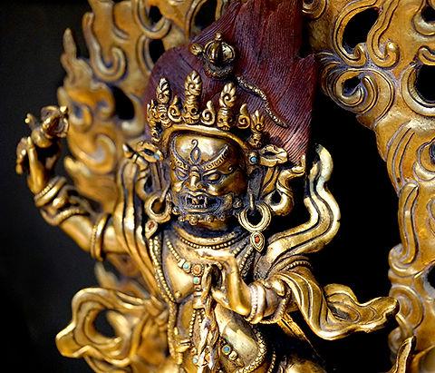 Gold Gilded Arya Vajrapani Statue