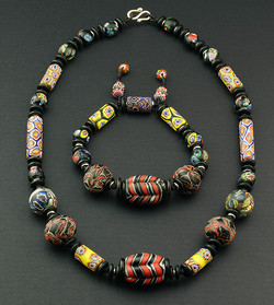 Mosaic Glass Beads Necklace