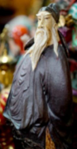 Li bai pottery statue