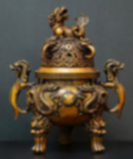 Dragon bronze incense burner