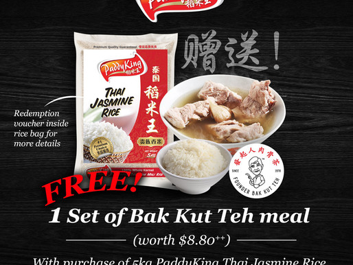 Chinese New Year Promotion 2018 – Free 1 set of Bak Kut Teh meal