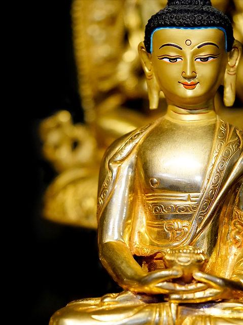 Gold Gilded Amitabha Buddha Statue