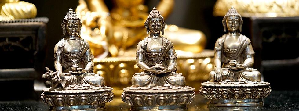 3pc set Silver Buddha Statues
