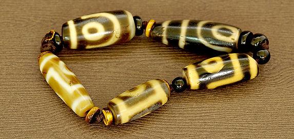 2 Eyes Old Dzi Beads